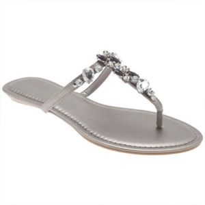 Lane Bryant Jeweled Flip Flops
